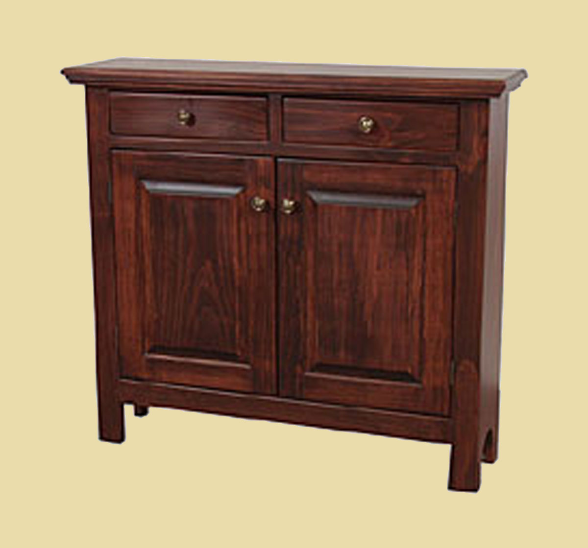 Shallow sideboard cabinet